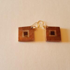 Cherry Wood Earrings (20-03)