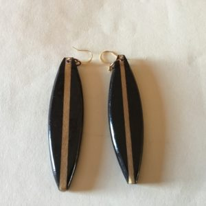 3″ Black Wood Earrings (20-05)