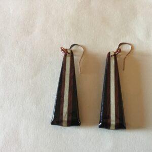 Triangle Wood Earrings- 3 Colors (20-01)
