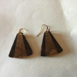 Maple & Walnut Wood Earrings (20-06)