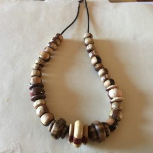 Wood Bead Necklace (20-12)